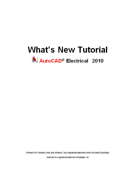 AutoCAD Electrical 2010 What's New Tutorial