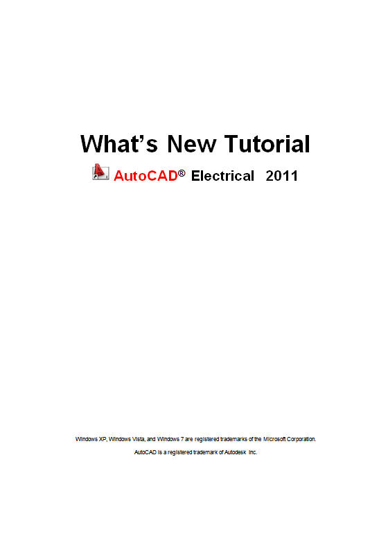 AutoCAD Electrical 2011 What's New Tutorial