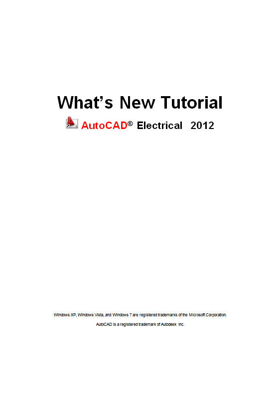AutoCAD Electrical 2012 What's New Tutorial