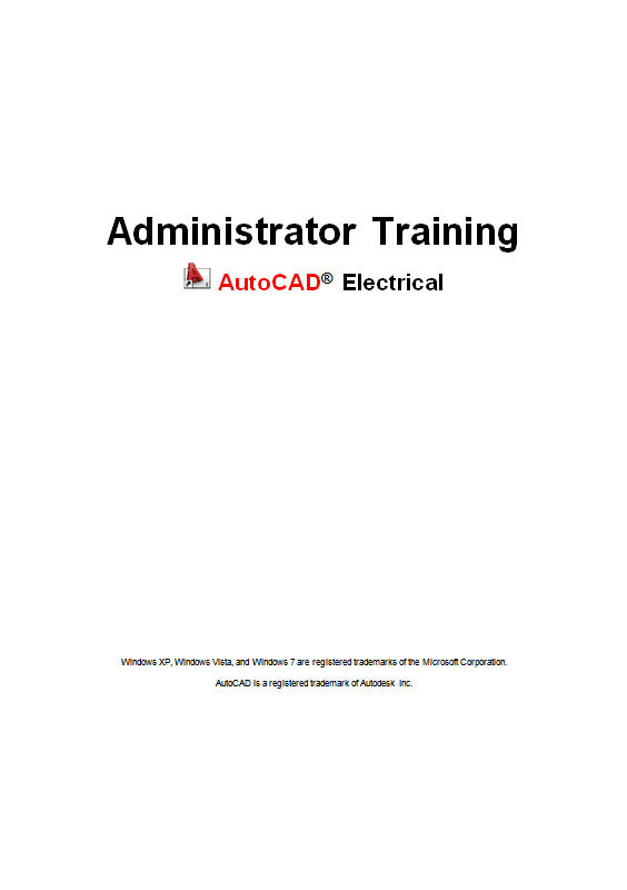 AutoCAD Electrical administrator training