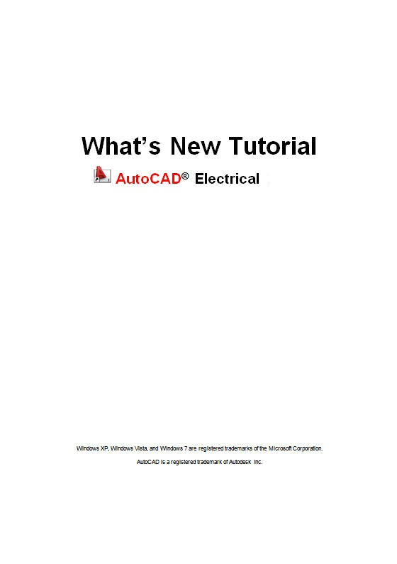 AutoCAD Electrical What's New Tutorial